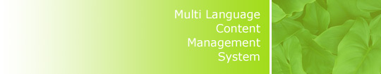 Multi Language Content Management System 3Dcms